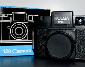 Holga 120S with the Original Box and Lens Cap - 120 Film Camera with a 60mm 1:8 Lens -Great Art Camera - Great Student Camera