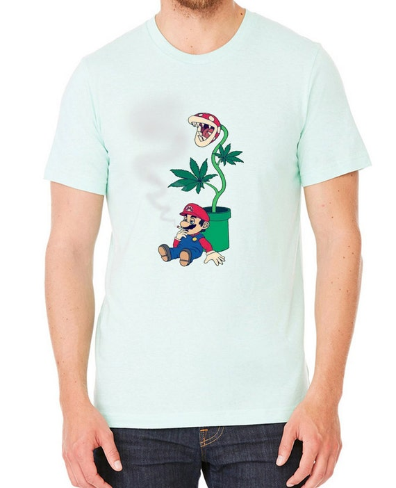 Men's Funny Mario Cigarette Break T-shirt