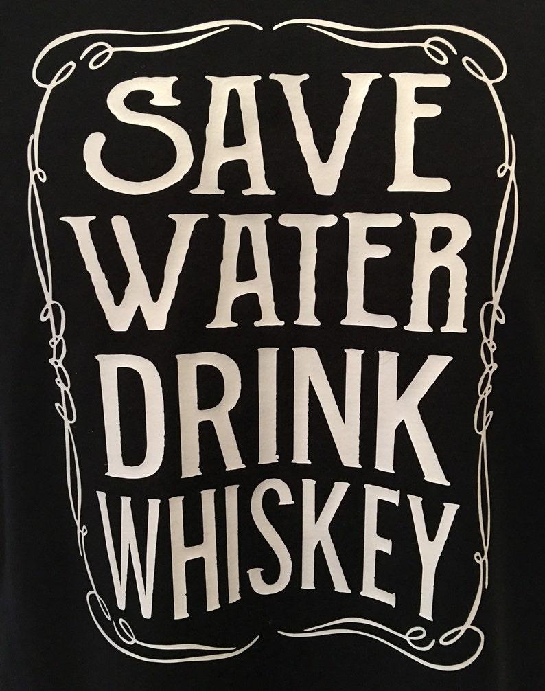b12b01562 Save water drink whiskey Men's T Shirt whiskey shirt drink | Etsy