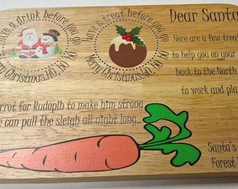 Personalised Santa Santa Treat Board/Tray/Platter/Plate