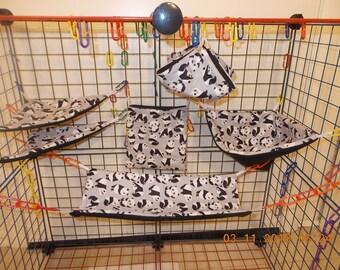 BABY PANDAS Sugar Glider 6 pc cage set