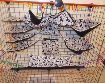 BABY PANDAS Sugar Glider 11 pc cage set