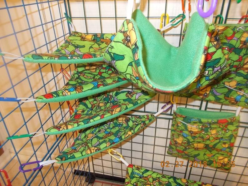 NINJA TURTLES SMALL Sugar Glider 11 pc cage set