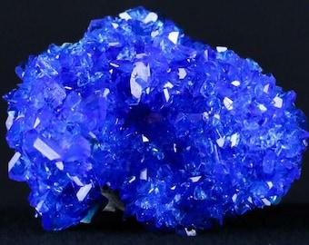 Blue Red Green Pink Chalcanthite Cluster Crystal Mineral Specimen Set of 4