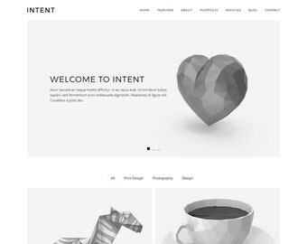 Intent - Minimal Portfolio WordPress Theme (live preview below)