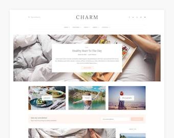 Charm - WordPress theme - WordPress blog theme - WordPress template - WordPress theme blog - WordPress template - Website blog template