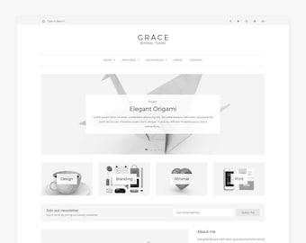 Grace - WordPress Theme - WordPress Blog Theme - Minimal WordPress Theme - WordPress Template - Website template - Responsive web design