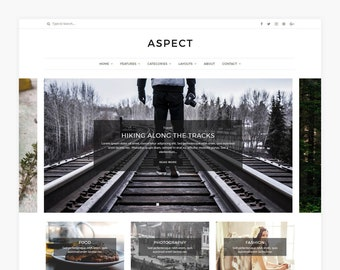 Aspect - WordPress Theme - WordPress Blog Theme - Minimal WordPress theme - WordPress Template - Website template - Responsive web design