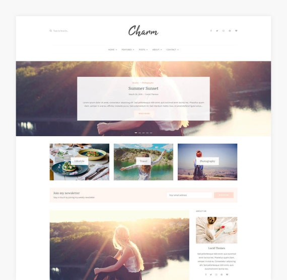 Charm Wordpress Theme Wordpress Blog Theme Wordpress Template Wordpress Theme Blog Wordpress Template Website Blog Template