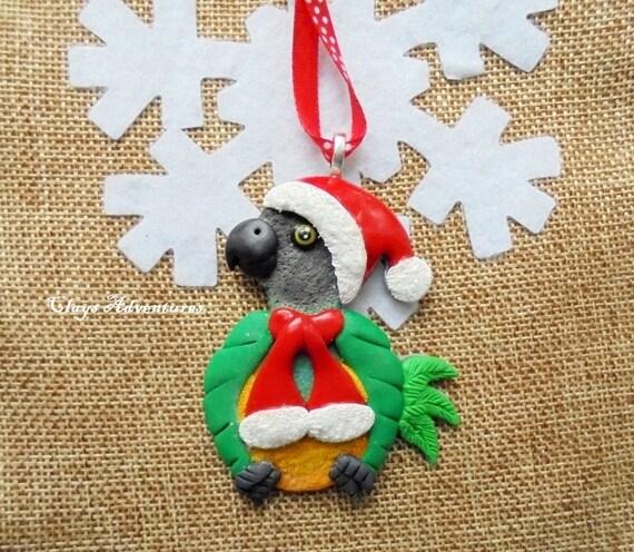 image 0 - Senegal Parrot Christmas Ornament / Necklace / Magnet Etsy