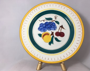 Vintage Stangl Pottery Dinner Plate, Mid-Century Decorative Pottery from New Jersey