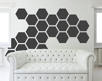 honeycomb Wall Art HEXAGON geometric 12 inches honeycomb COLORFUL wall decal MODERN vinyl at home stickers headboard