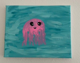 """8""""x10"""" Acrylic Painting - Pink Jelly"""