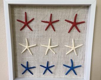 "Patriotic Stars 12""x12"" Shadow Box"