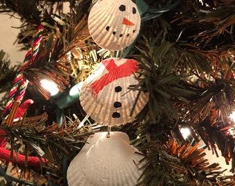 Seaside Snowman Christmas Ornament