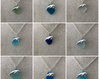 Manatee Sea Glass Necklace - Choice of Color