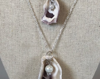 Mommy & Me Oyster Shell Necklace Set