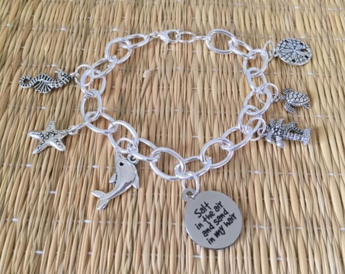 Salt in the Air and Sand in my Hair Charm Bracelet