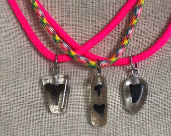 JAWSome Little Bite Chikdren's Adjustable Paracord Shark Tooth Necklace