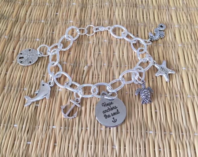 Hope Anchors the Soul Charm Bracelet