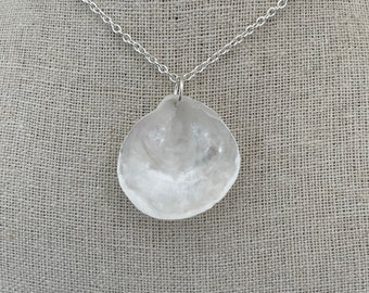 White Jingle Shell Necklace