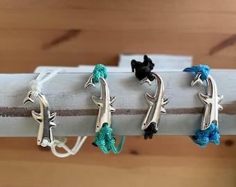 Shark Charm Paracord Adjustable Bracelet/Ankelet