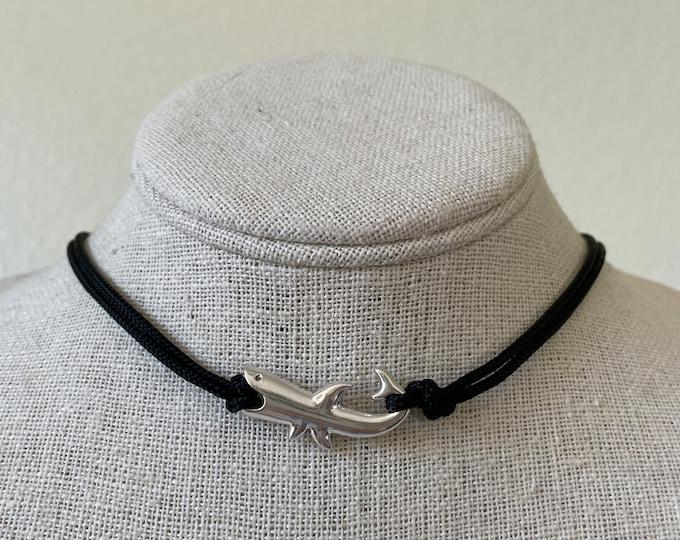 Shark Charm Adjustable Paracord Necklace