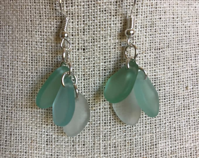 Shades of the Sea Sea Glass Earrings