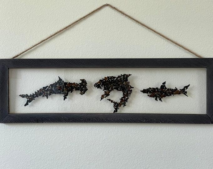 Trio of Sharks - Made from REAL Shark Teeth!