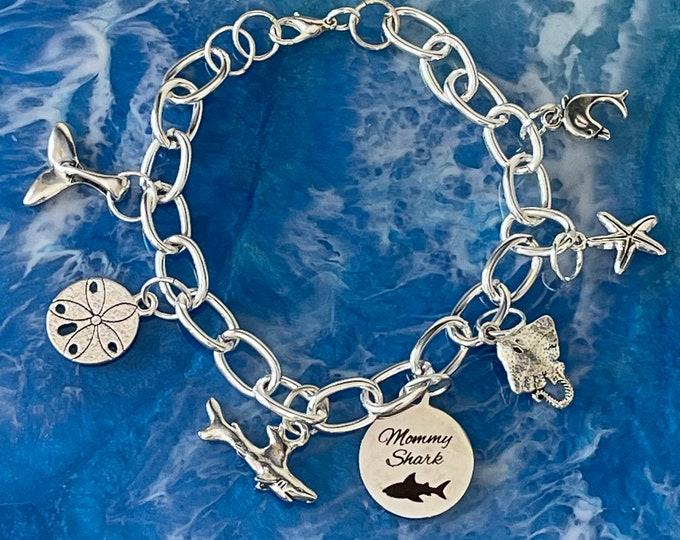 Mommy Shark Charm Bracelet