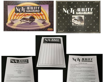NoteAbility game Spares Replacement 1990 1991 Rules Score Sheets Tiger Spears