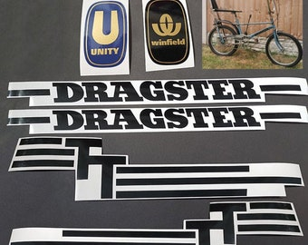 Triang Tri-ang Dragster TT Unity Winfield Bicycle Bike Vinyl Decals Stickers Set