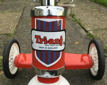 Triang Tri-ang Logo Shield Sticker Decal for bikes trikes scooters toys