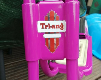Triang Tri-ang metallic logo sticker decal for bikes trikes scooters toys