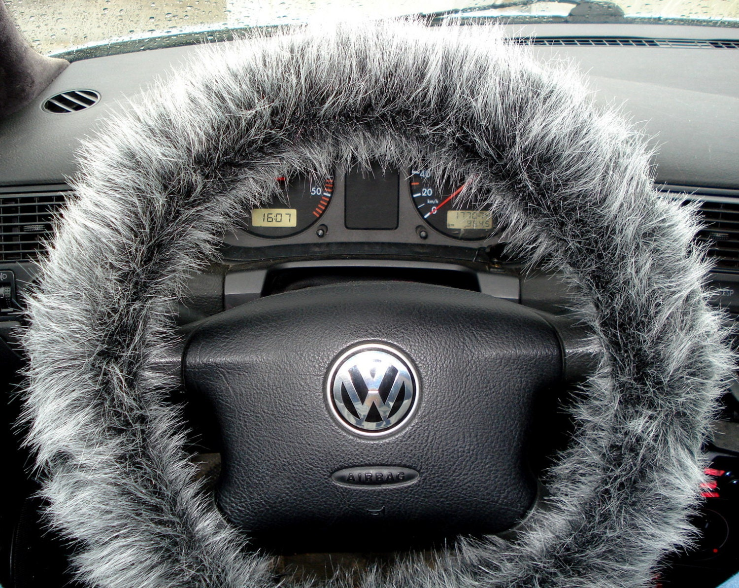 fuzzy car accessories steering wheel cover gear shift knob etsy