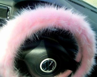 Pink Fuzzy Steering Wheel Cover, Car accesories, Fuzzy Car Accessories, Pink Fuzzy Wheel Cover, Faux Fur Steering Wheel Cover