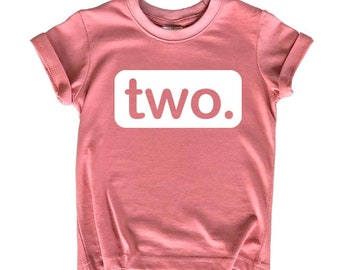 2nd Birthday Outfits for Toddler Girls Shirt 2 Year Old Girl Second Birthday Two