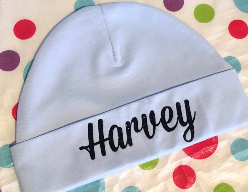 40fe7ca79 Personalised Baby Beanie Hat, Infant Boy Personalised Newborn Baby Shower  Gift, infant girl hat, newborn hat, baby boy, name hat baby