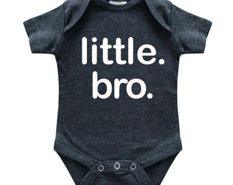Little Brother Newborn Outfit for Boys Little bro Baby Shower boy Romper Bodysuit