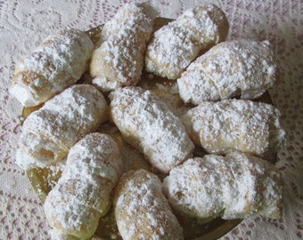 Lady Locks or Clothes Pin Cookies /2 Doz   Made with Flaky Handmade Pastry Dough