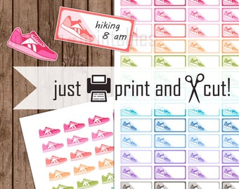 Running Planner Stickers, Sneaker Stickers (printable), Physical Education, Gym Planner Stickers