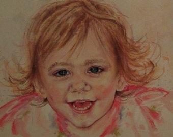 Pastel Portrait of your Child