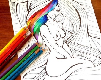 Naked women coloring pages   270x340