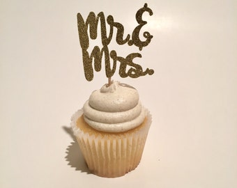 Mr. & Mrs. Cupcake Toppers