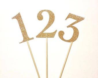 Glitter Centerpiece Numbers