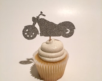 Motorcycle Cupcake Topper