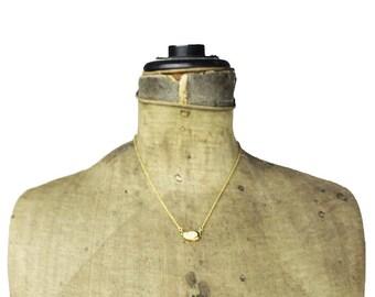Boucher Designed D'Orlan Gold Chain Necklace, D'Orlan Gold and Rhinestone Pendant, Boucher Gold Necklace, Gold and Rhinestone Necklace
