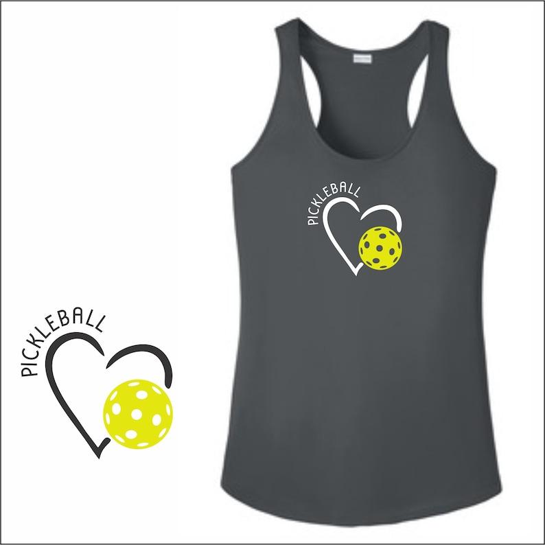 Womens Pickleball Shirt Open Heart