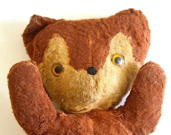 vintage teddy bear stuffed bear toy bear old teddy bear collectible bear