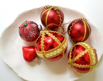 vintage glass christmas ornaments red christmas ornaments heart ornament